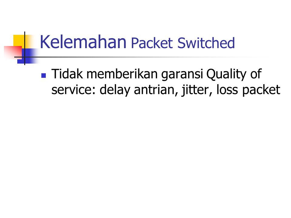 Kelemahan Packet Switched