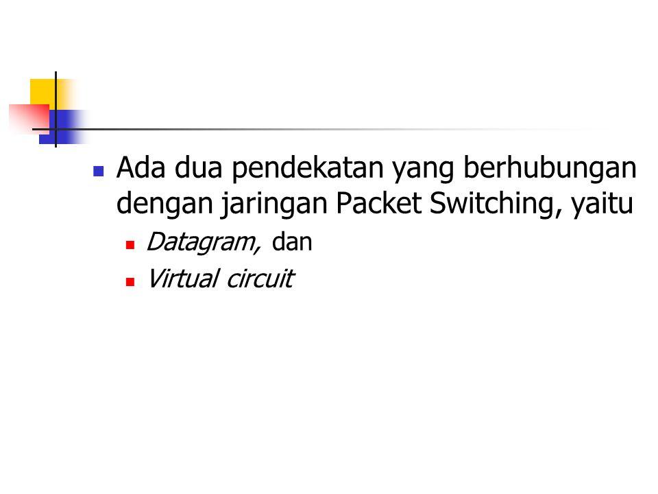 Ada dua pendekatan yang berhubungan dengan jaringan Packet Switching, yaitu