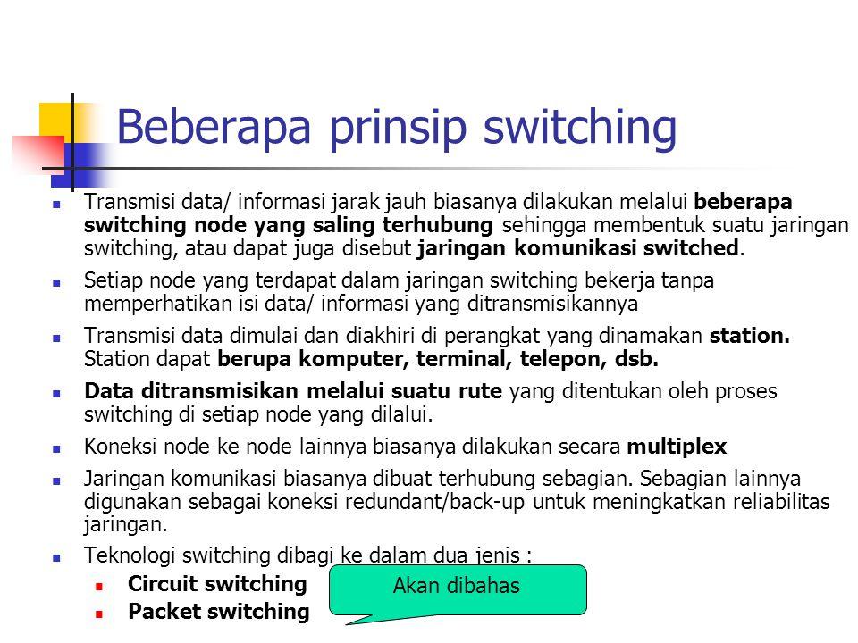 Beberapa prinsip switching