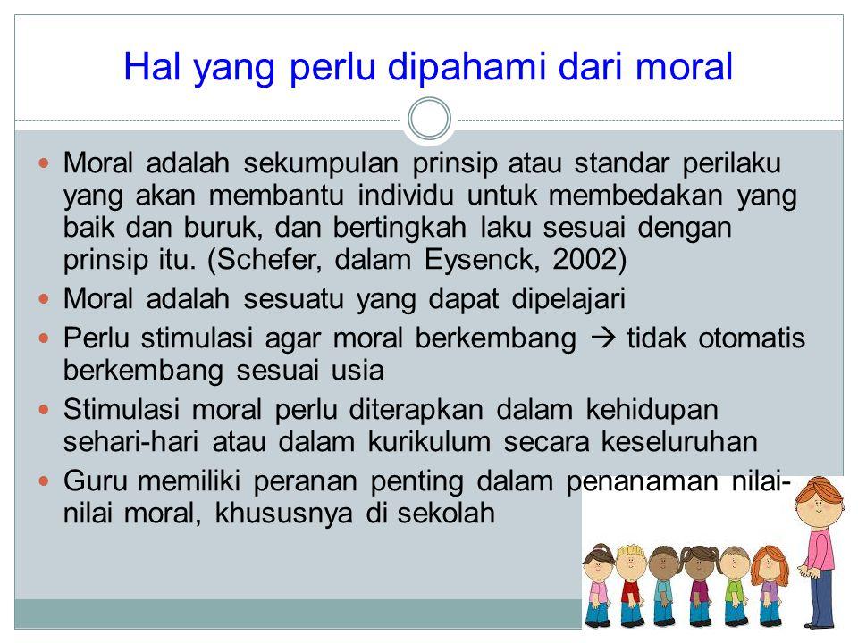 Hal yang perlu dipahami dari moral