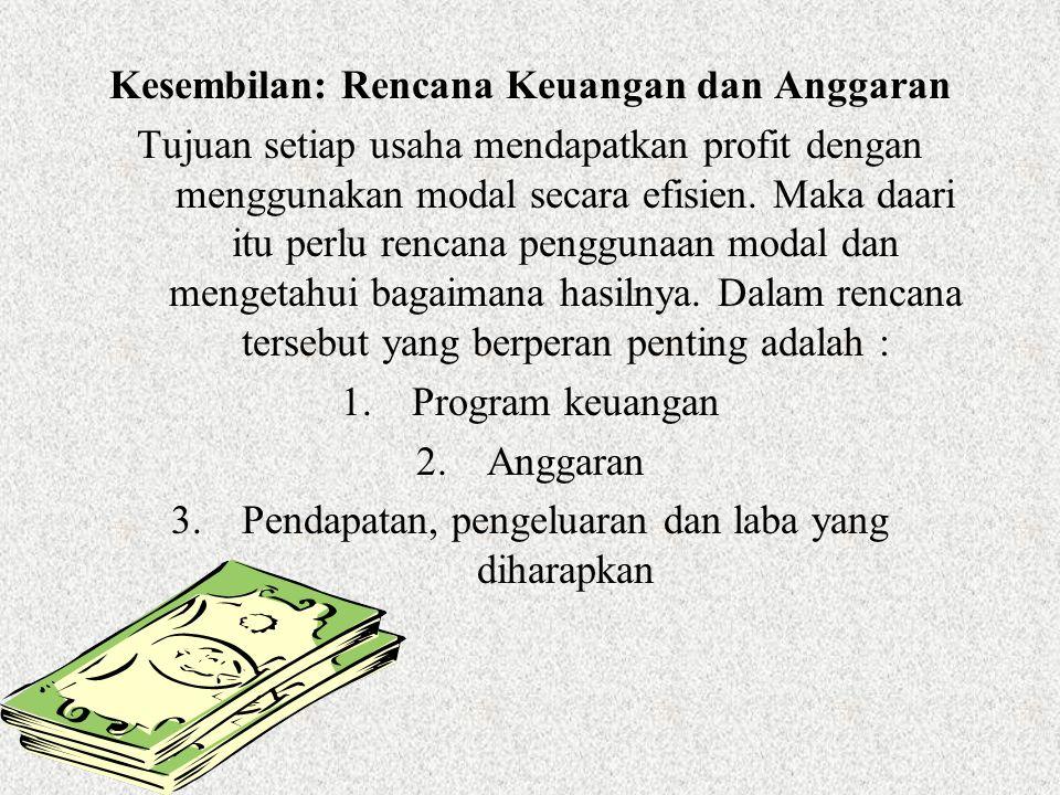 Kesembilan: Rencana Keuangan dan Anggaran
