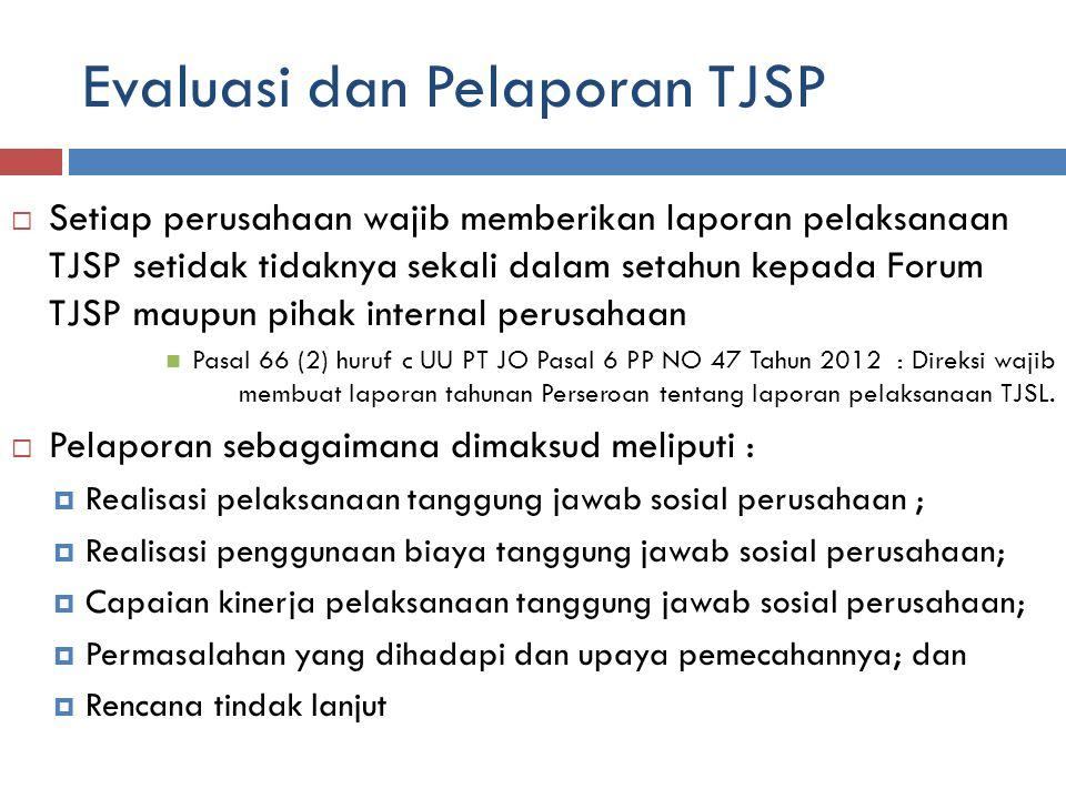 Evaluasi dan Pelaporan TJSP