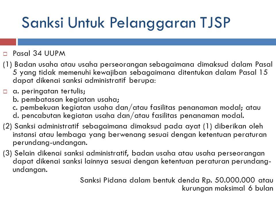 Sanksi Untuk Pelanggaran TJSP