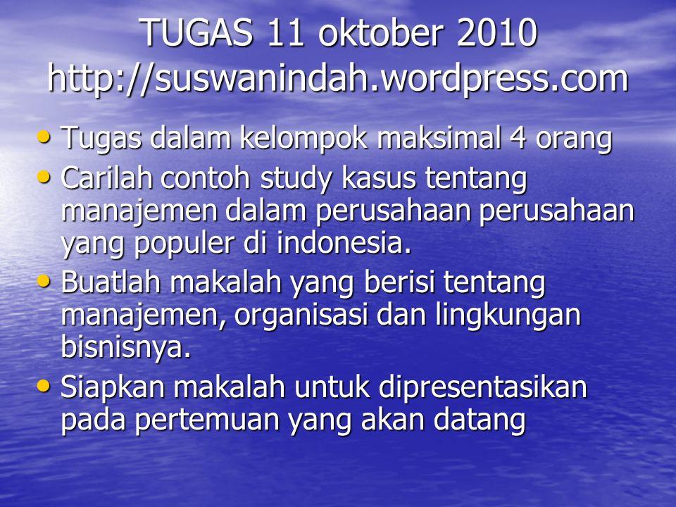 TUGAS 11 oktober 2010 http://suswanindah.wordpress.com