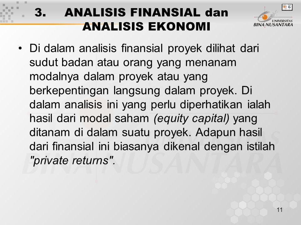 3. ANALISIS FINANSIAL dan ANALISIS EKONOMI
