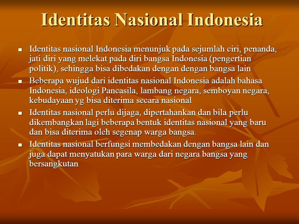 Identitas Nasional Indonesia