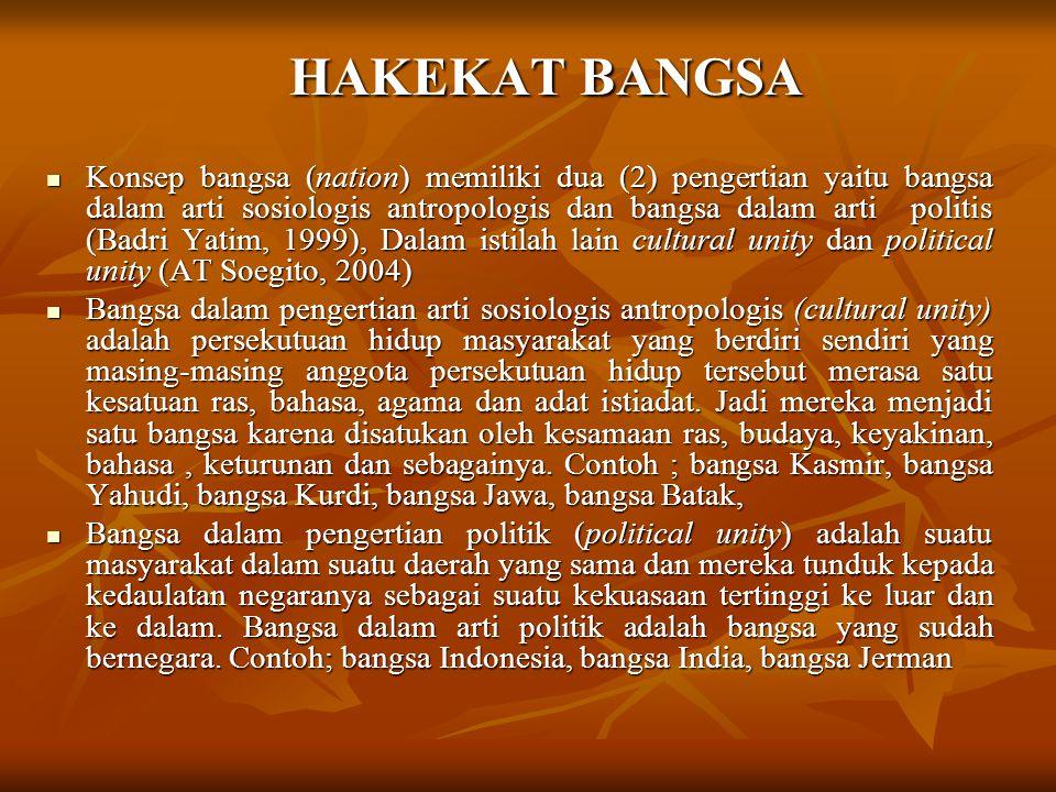 HAKEKAT BANGSA