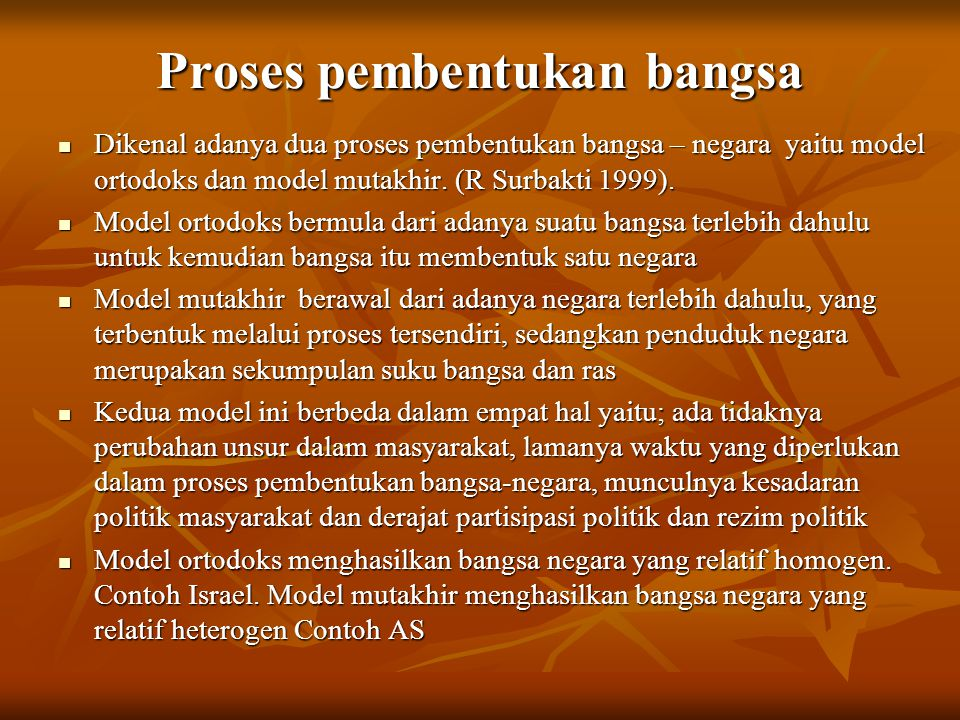 Proses pembentukan bangsa