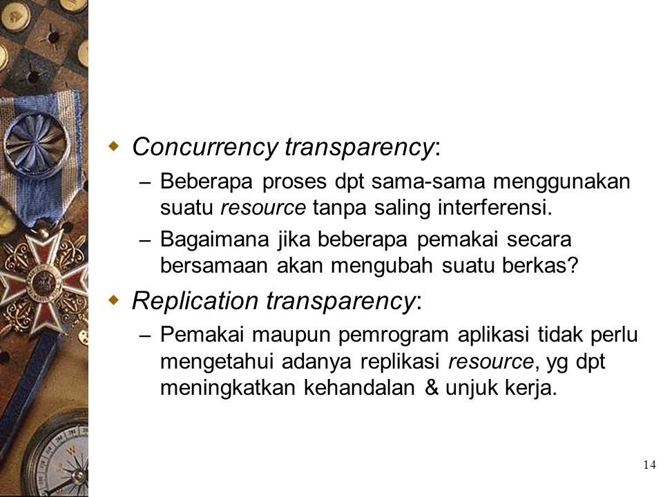 Concurrency transparency: