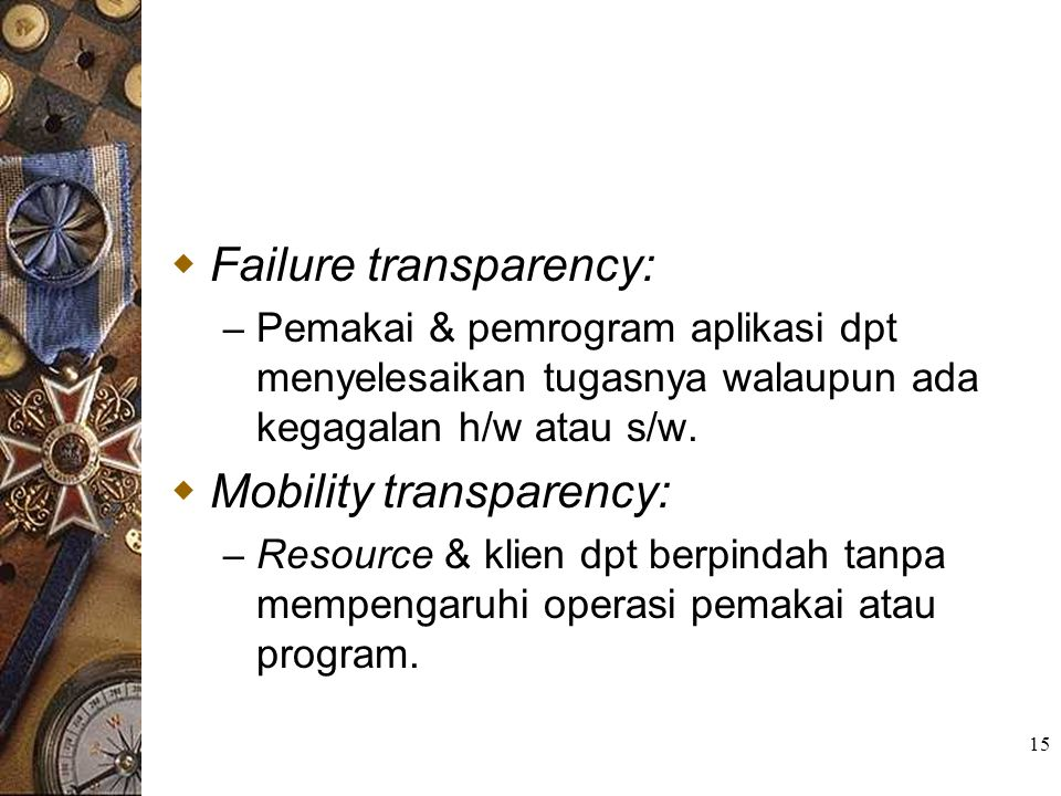 Failure transparency: