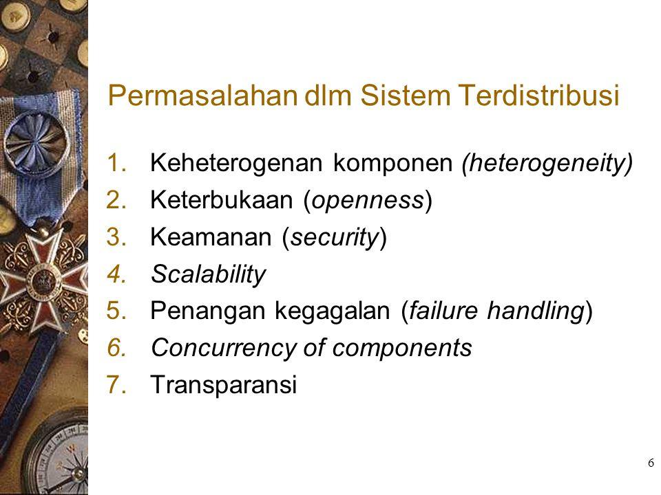Permasalahan dlm Sistem Terdistribusi