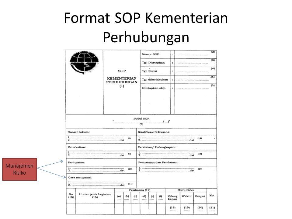 Format SOP Kementerian Perhubungan
