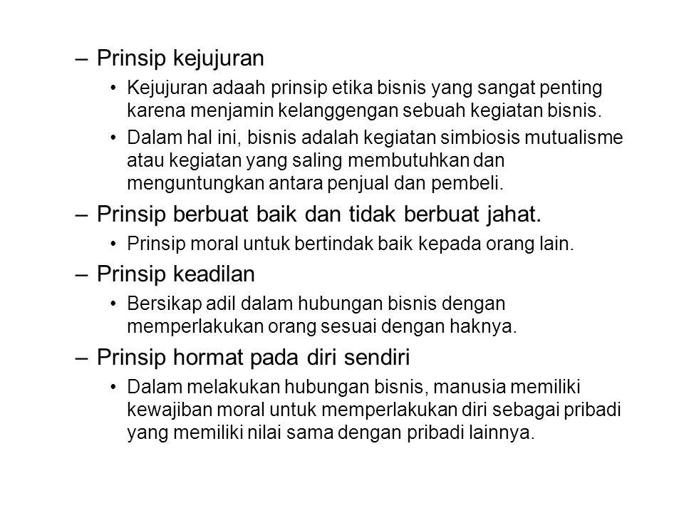 Prinsip berbuat baik dan tidak berbuat jahat. Prinsip keadilan