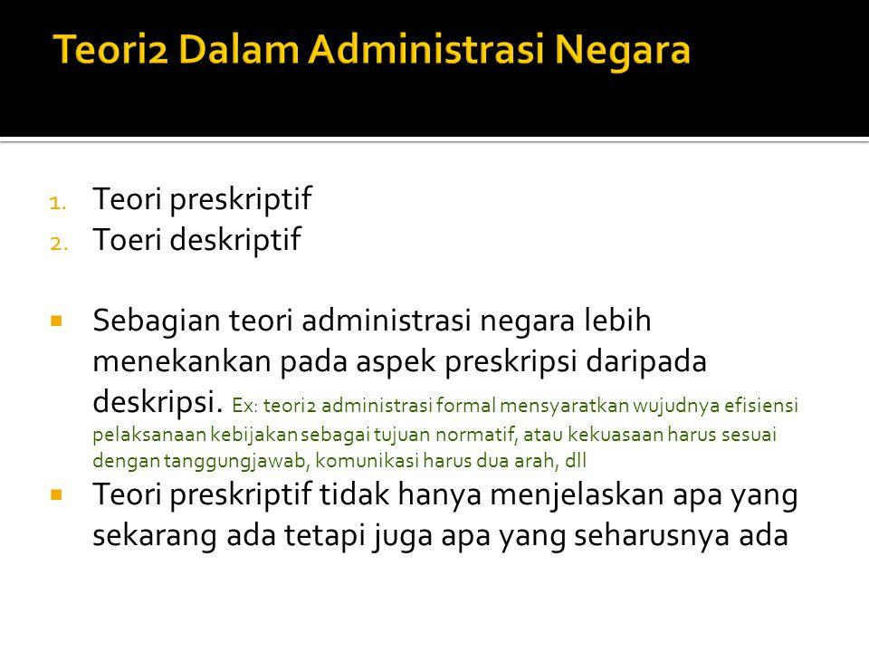 Teori2 Dalam Administrasi Negara