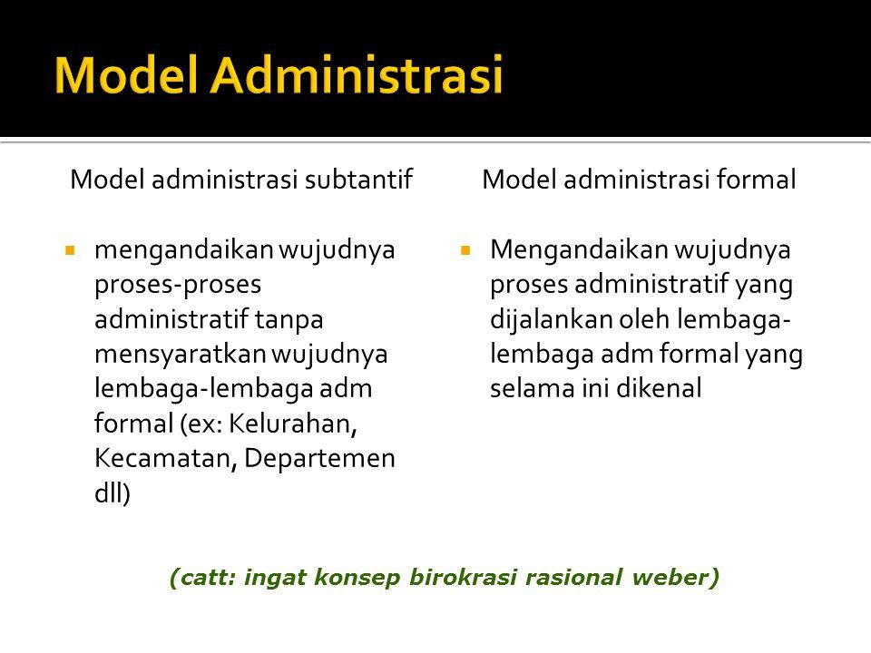 Model Administrasi Model administrasi subtantif