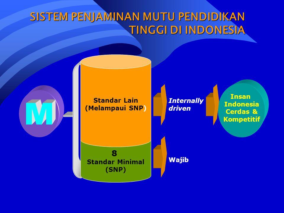 M SISTEM PENJAMINAN MUTU PENDIDIKAN TINGGI DI INDONESIA 8 Standar Lain