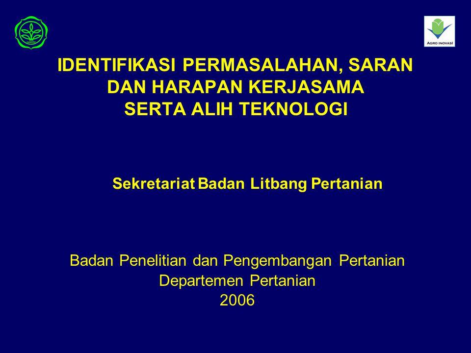 Badan Penelitian dan Pengembangan Pertanian Departemen Pertanian 2006