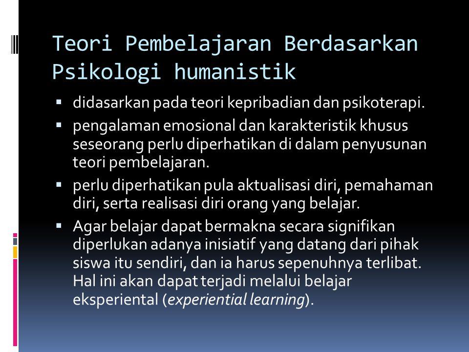 Teori Pembelajaran Berdasarkan Psikologi humanistik