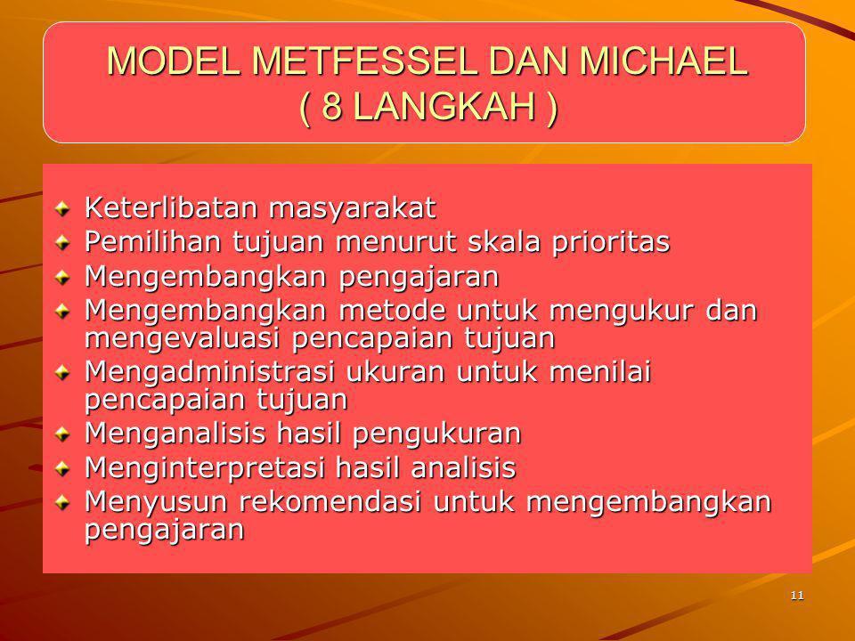 MODEL METFESSEL DAN MICHAEL ( 8 LANGKAH )