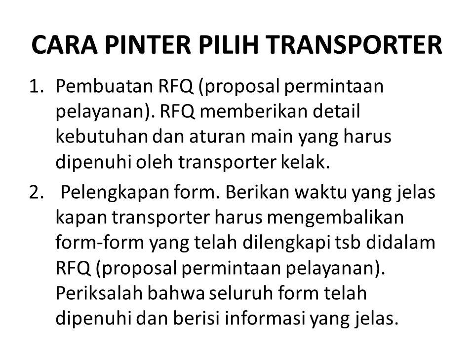 Cara Pinter Pilih Transporter