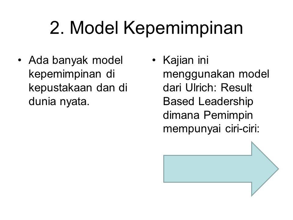 2. Model Kepemimpinan Ada banyak model kepemimpinan di kepustakaan dan di dunia nyata.