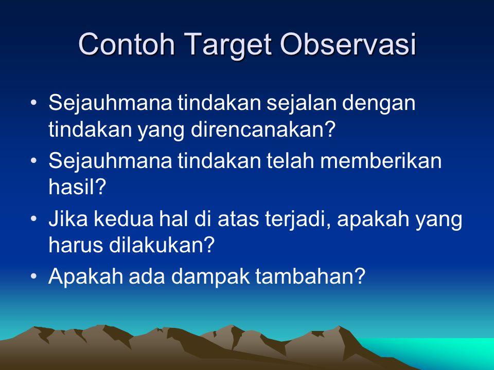 Contoh Target Observasi