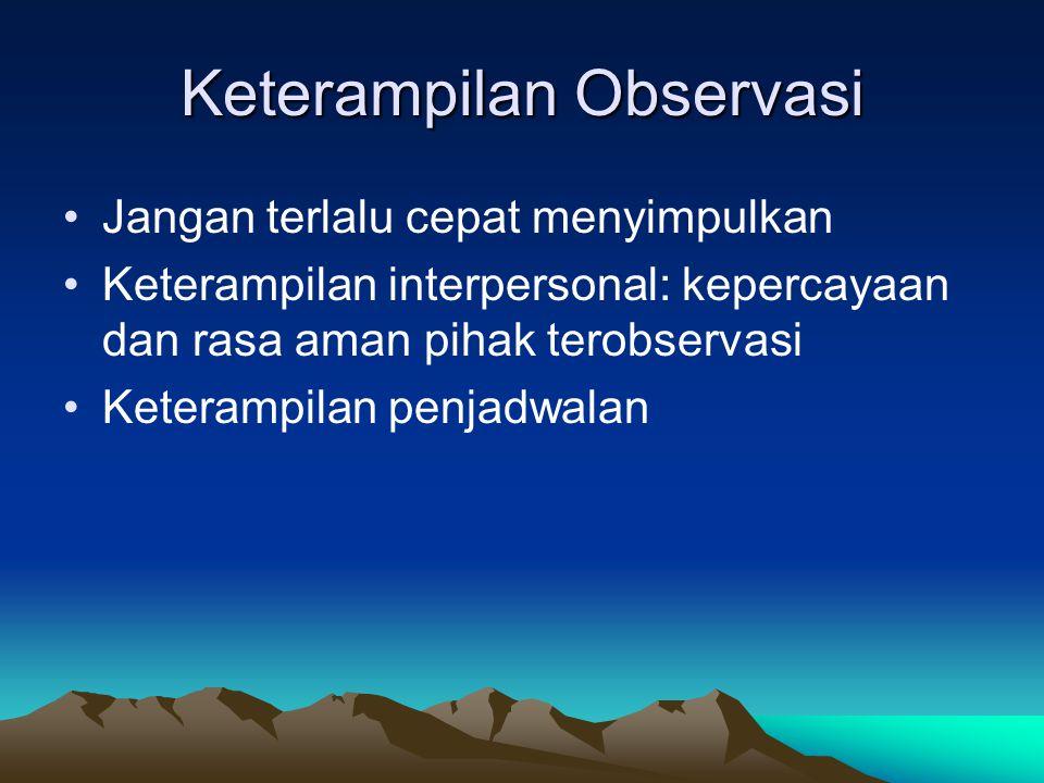 Keterampilan Observasi