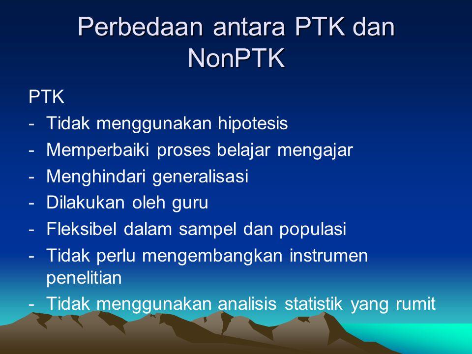 Perbedaan antara PTK dan NonPTK