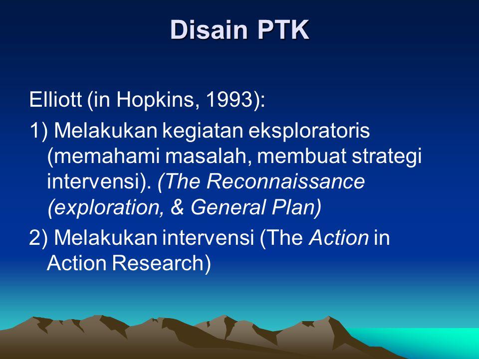 Disain PTK Elliott (in Hopkins, 1993):
