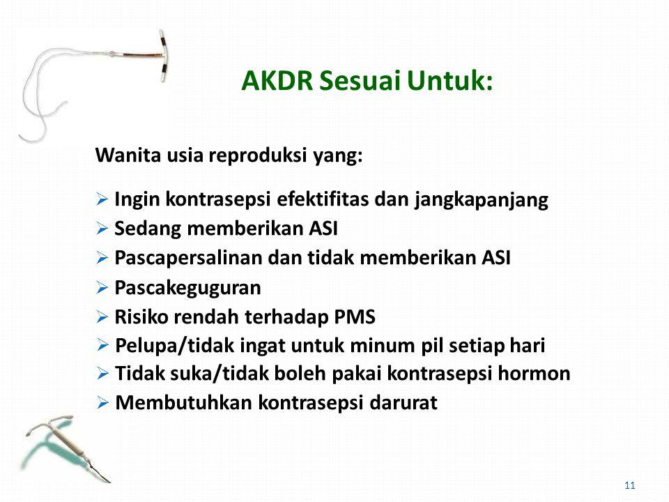AKDR Sesuai Untuk: panjang
