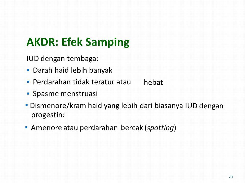 AKDR: Efek Samping hebat bercak (spotting)