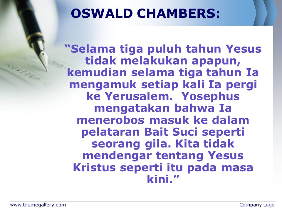 OSWALD CHAMBERS: