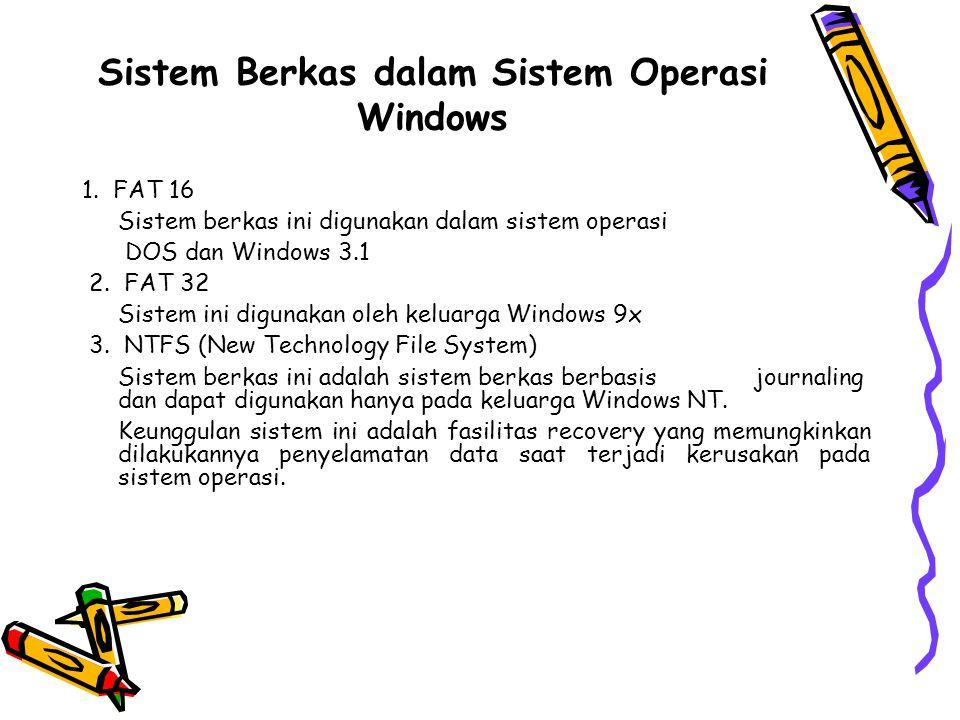 Sistem Berkas dalam Sistem Operasi Windows