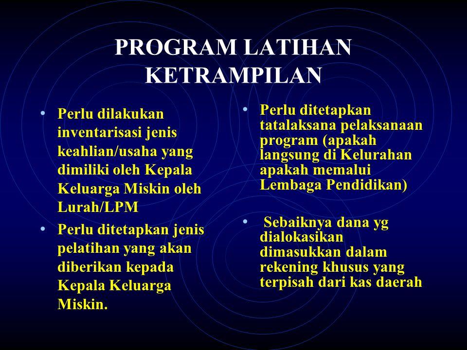 PROGRAM LATIHAN KETRAMPILAN