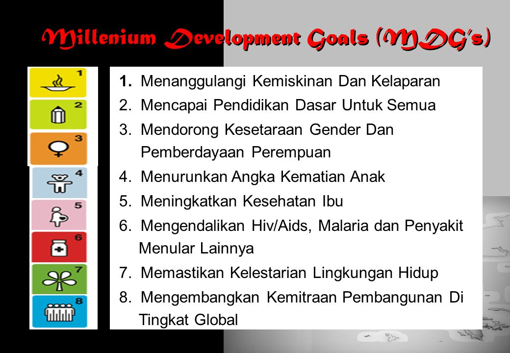 Millenium Development Goals (MDG's)