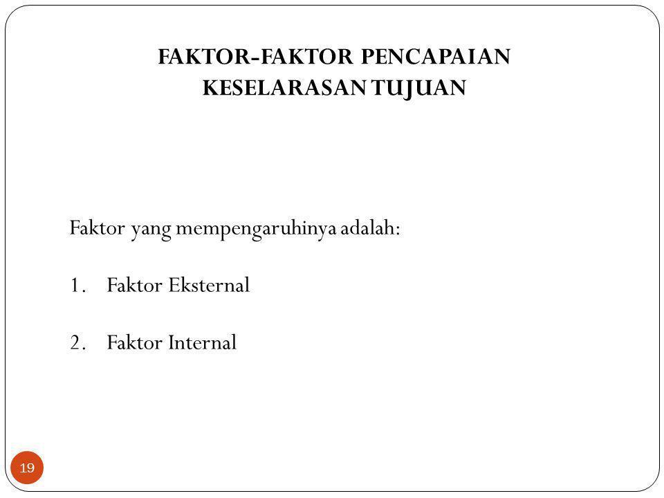 FAKTOR-FAKTOR PENCAPAIAN
