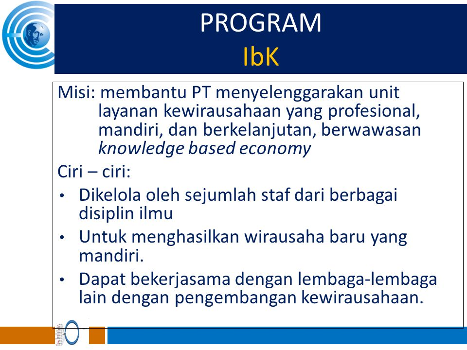 PROGRAM IbK.