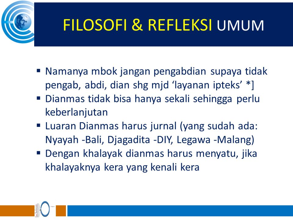 FILOSOFI & REFLEKSI UMUM