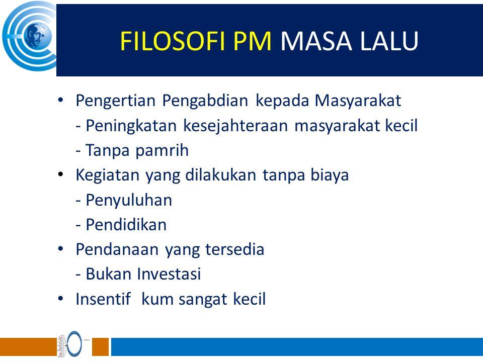 FILOSOFI PM MASA LALU Pengertian Pengabdian kepada Masyarakat