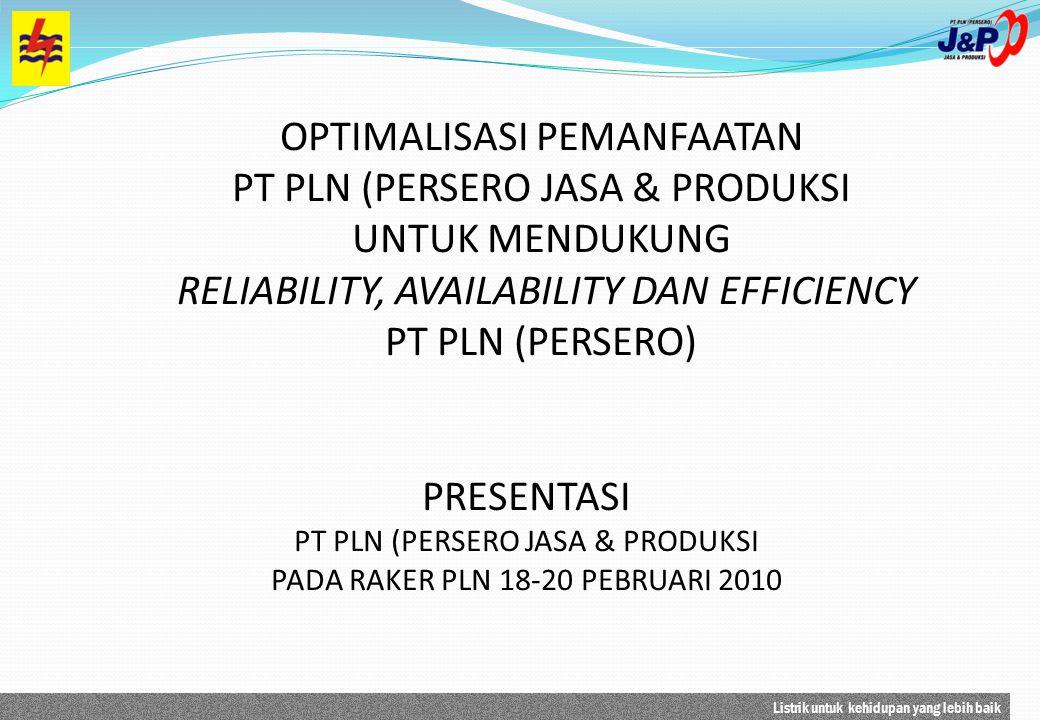 OPTIMALISASI PEMANFAATAN PT PLN (PERSERO JASA & PRODUKSI