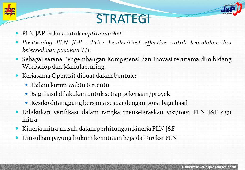 STRATEGI PLN J&P Fokus untuk captive market
