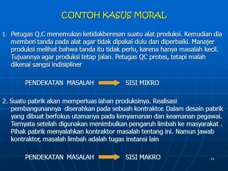 CONTOH KASUS MORAL