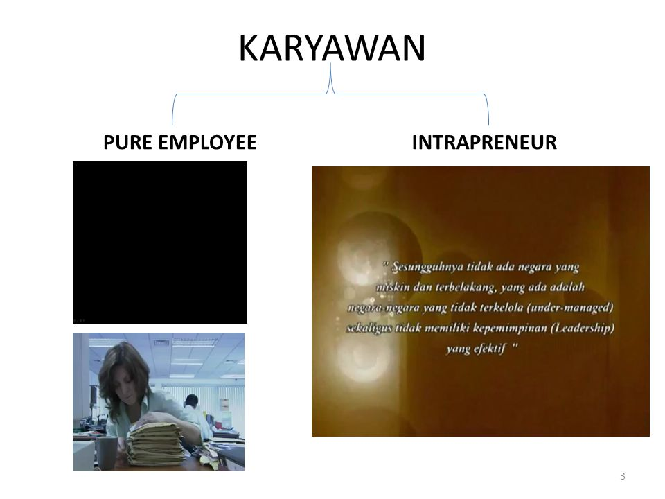 KARYAWAN PURE EMPLOYEE INTRAPRENEUR