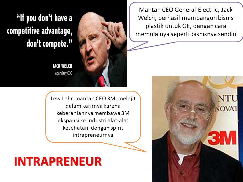 Mantan CEO General Electric, Jack Welch, berhasil membangun bisnis plastik untuk GE, dengan cara memulainya seperti bisnisnya sendiri