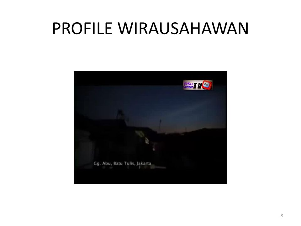 PROFILE WIRAUSAHAWAN