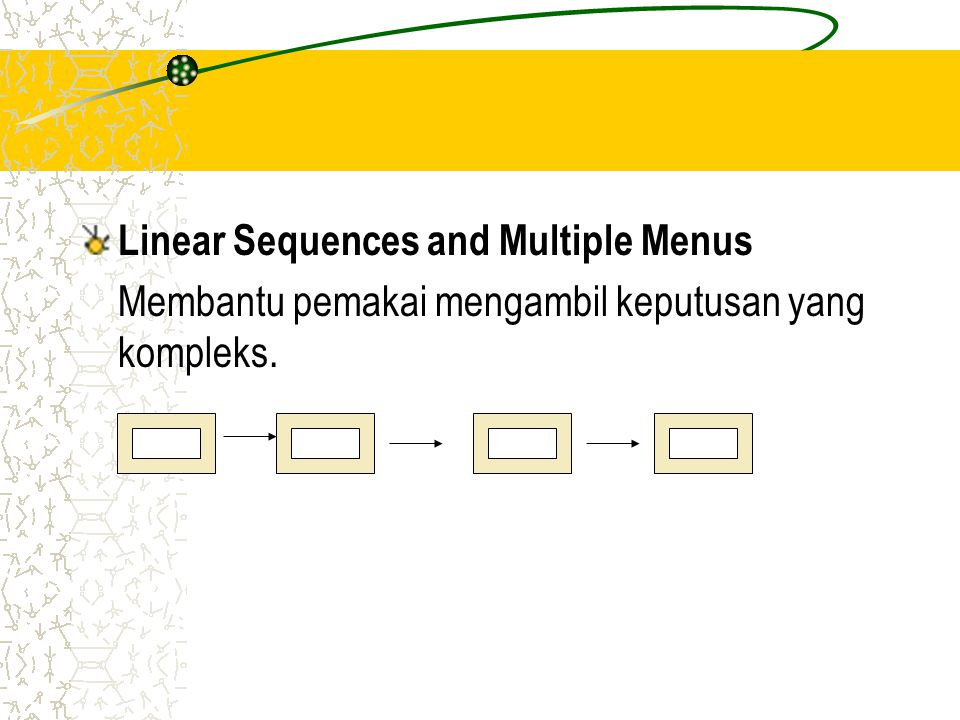 Linear Sequences and Multiple Menus