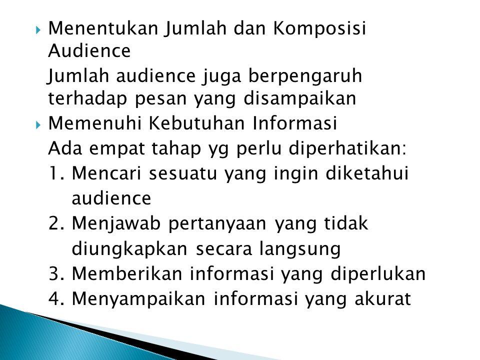 Menentukan Jumlah dan Komposisi Audience