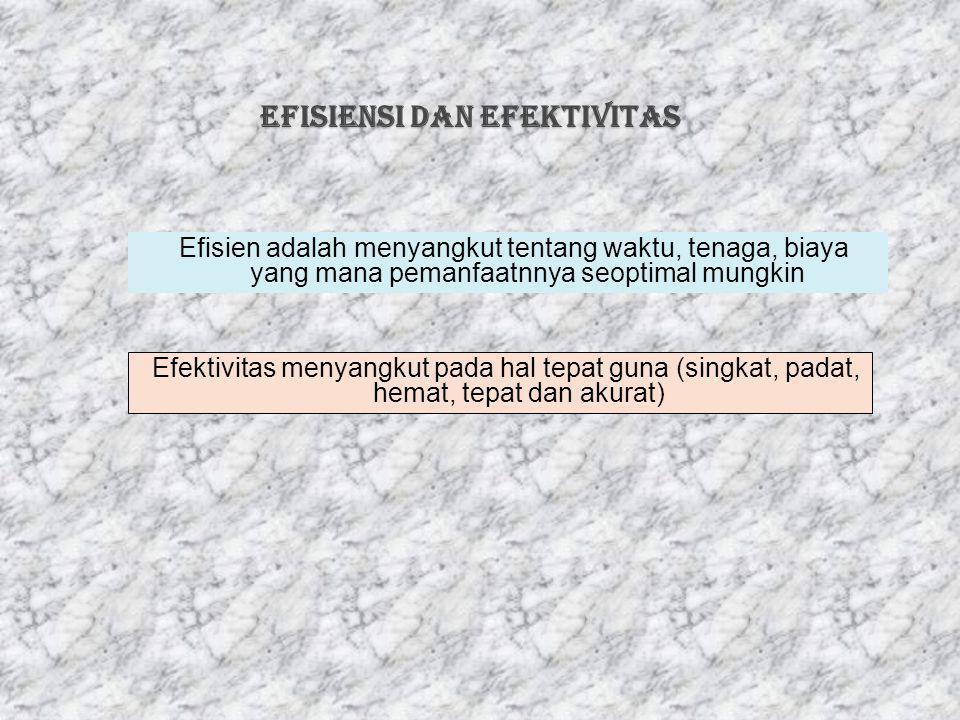 EFISIENSI dan EFEKTIVITAS