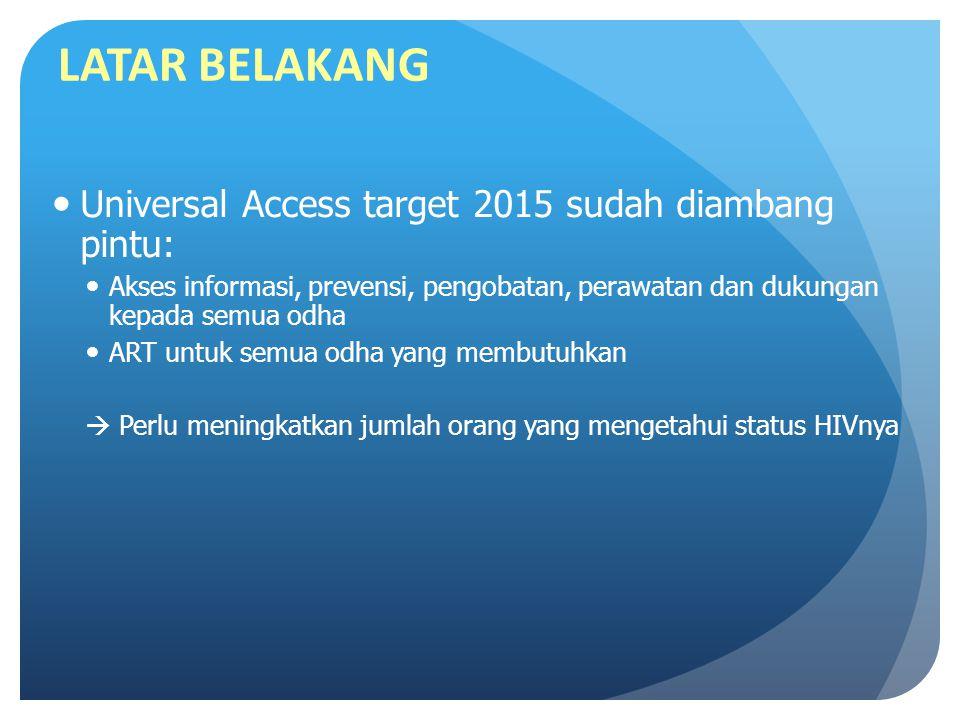 LATAR BELAKANG Universal Access target 2015 sudah diambang pintu: