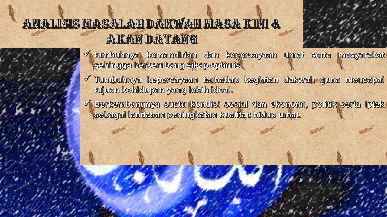 ANALISIS MASALAH DAKWAH MASA KINI & AKAN DATANG